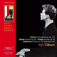 Orfeo : Cliburn - Barber, Beethoven, Chopin